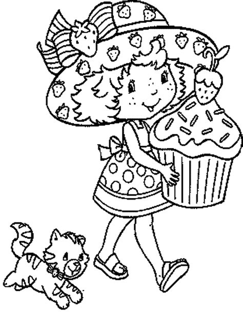coloring pages coloring strawberry shortcake coloring pages free coloring home