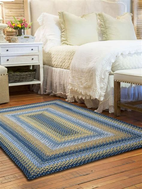 100 Cotton Braided Rugs - sunflowers cotton braided rug cottage home 174
