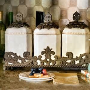 Decorative Kitchen Canisters Sets by Ceramic Canister Set Traditional Bathroom Canisters