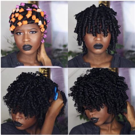 how to create long wavey curls with perm how to achieve a bomb perm rod set on type 4 kinky coily