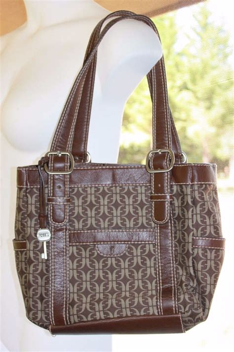 Fossil Keyfob Multi Pink fossil handbag purse signature f key fob leather shoulder bag multi pockets handbags purses