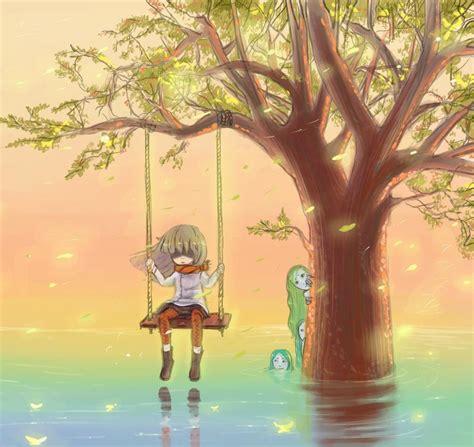anime swing swing a girl a mermaid by mireys on deviantart