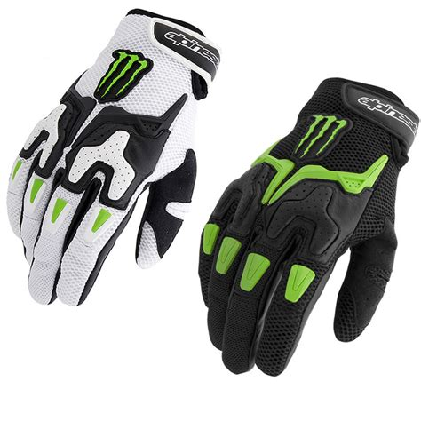 monster energy motocross gloves alpinestars m20 air monster energy motorcycle gloves