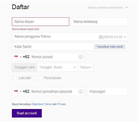 cara membuat yahoo baru info indonesia cara membuat email baru di yahoo dengan mudah