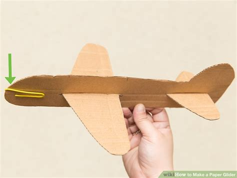 How To Make A Paper Hang Glider - 3 ways to make a paper glider wikihow