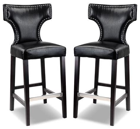 kings brand black metal dining room chair with vinyl seat kings bar stool with metal studs set of 2 black