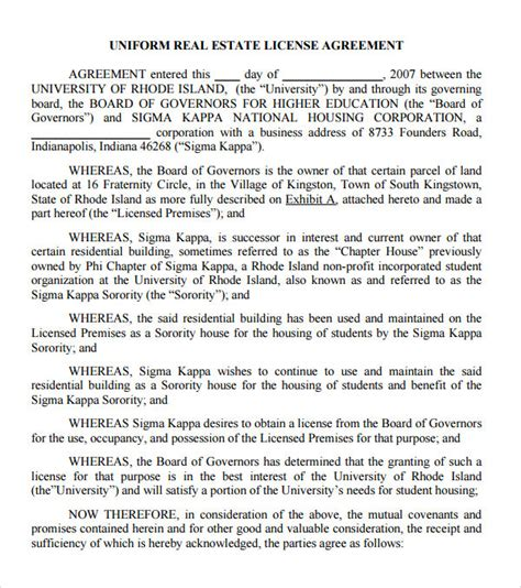 photography license agreement template sle license agreement template 11 free documents in