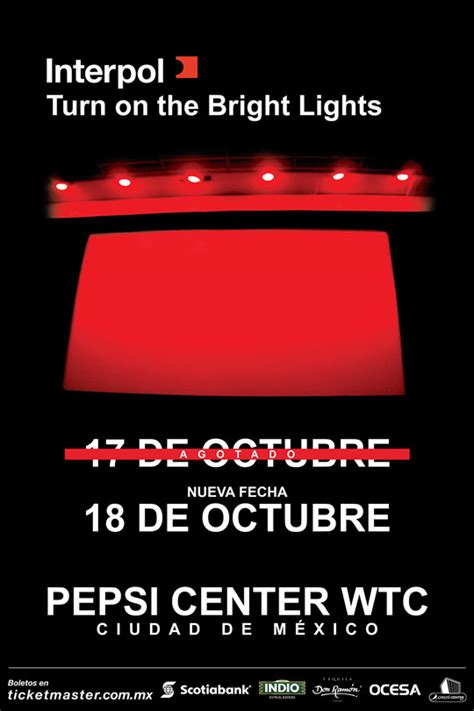 interpol turn on the bright lights gira 15 aniversario de turn on the bright lights de