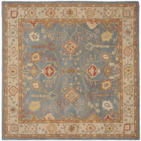 6 Square Area Rug Safavieh Antiquity Blue Ivory 6 Ft X 6 Ft Square Area Rug At314a 6sq The Home Depot