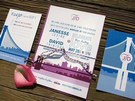 nyc themed wedding invitations 22 best images about nyc theme invites on