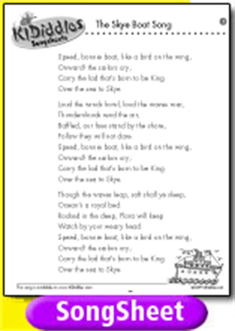 skye boat song lullaby the skye boat song song and lyrics from kididdles