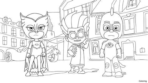 Night Ninja From Pj Masks Coloring Page Color Pages Click