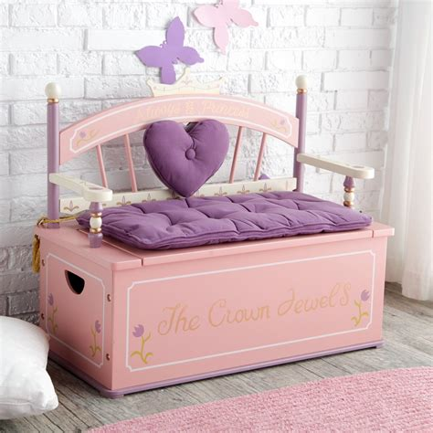 princess storage bench levels of discovery royal princess toy storage bench at