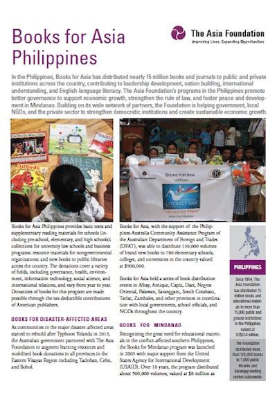 pragmatic philanthropy asian charity explained books books for asia philippines the asia foundation