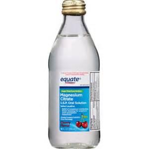 equate cherry flavor magnesium citrate solution