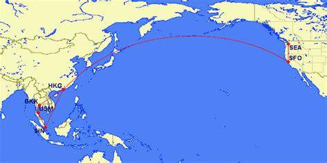 san francisco to hong kong map a royal dis hhonor introduction one mile at a time