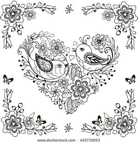 coloring book birds and flowers stress relief coloring book garden designs mandalas animals florals and paisley patterns books anti bird stock photos images pictures