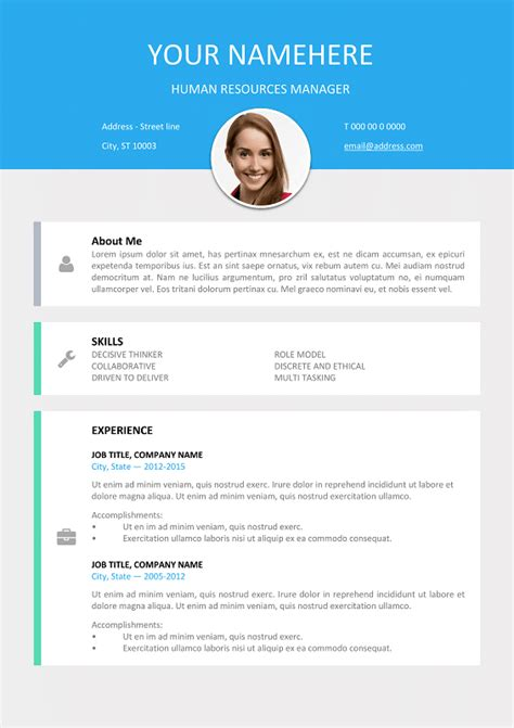 Resume Format Sample Word Doc le marais free modern resume template