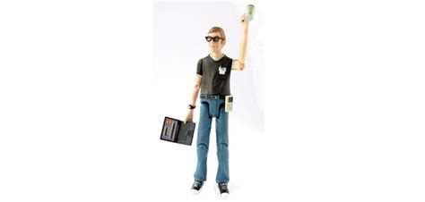The X Files Toys A Happy Writer by Geekman Figure Happy Worker Custom