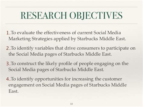 thesis topics social media marketing social media marketing starbucks middle east