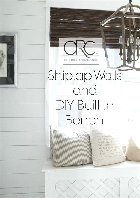Adding Shiplap To Walls Adding Shiplap And A Built In Bench To Kitchen Nook