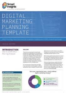 Digital Marketing Plan Template by Free Digital Marketing Plan Template Smart Insights