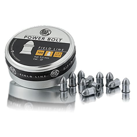 Mimis Rws Supermag 4 5mm rws diabolo power bolt pallini per compressa 5 5 mm 1 5g
