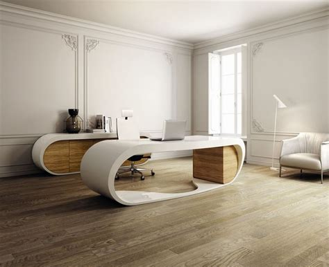 home interior wooden floor unique office desk modern
