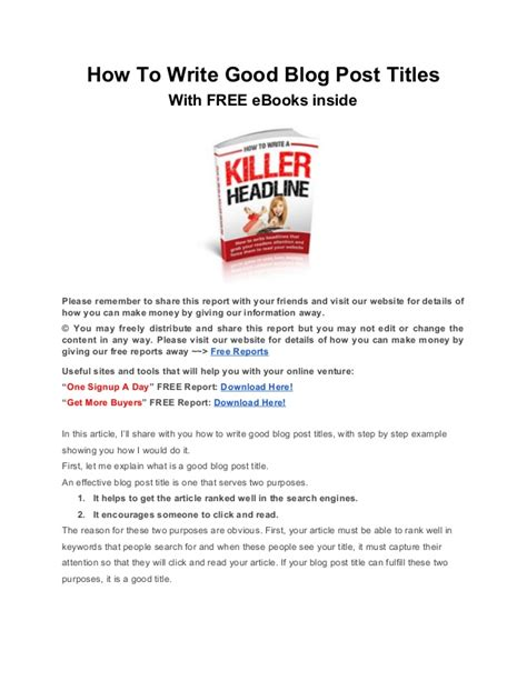 how to write titles of books in a paper how to write post titles with free ebooks inside