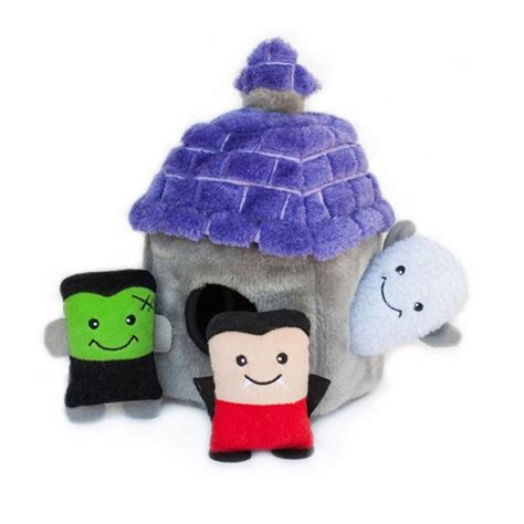dog house toy zippypaws halloween burrows dog toy haunted house with same day shipping baxterboo