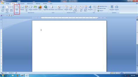 cara membuat tabel struktur organisasi di word pembuatan tabel dalam microsoft word