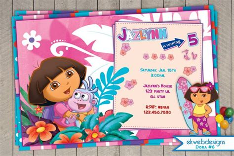 printable invitations dora the explorer dora the explorer birthday invitation dora birthday