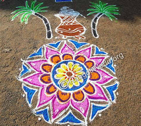 rangoli themes for pongal pongal pot rangoli designs