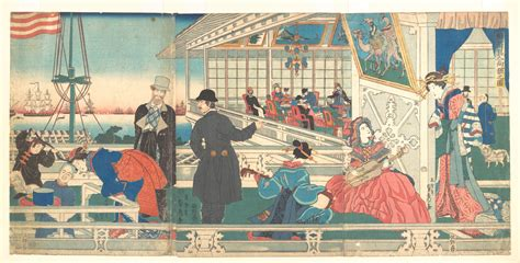 utagawa gountei sadahide home  foreign merchants