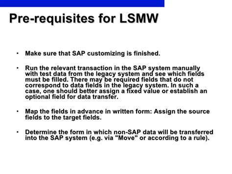 tutorial sap lsmw step by step lsmw tutorial