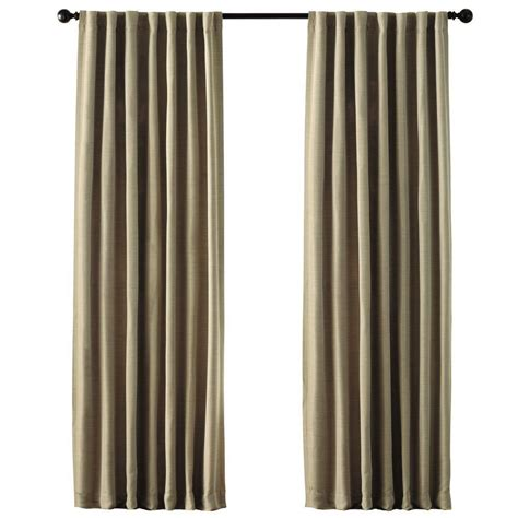 home decorators collection taupe room darkening back tab