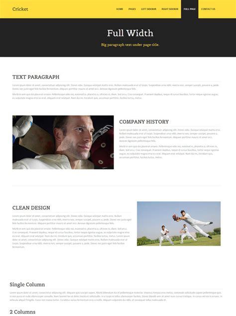 templates for cricket website cricket website template cricket website templates