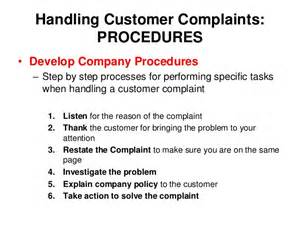 Customer Complaint Procedure Template by Sem 1 1 08 Ppt