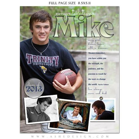 senior yearbook ad templates senior yearbook ads photoshop templates high