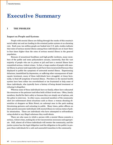 6 executive summary real life exles financial statement