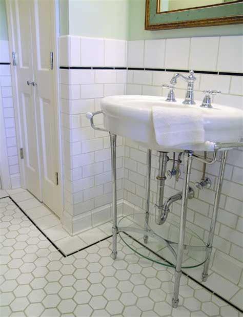 hexagon floor tile bathroom larger hex tiles with subway