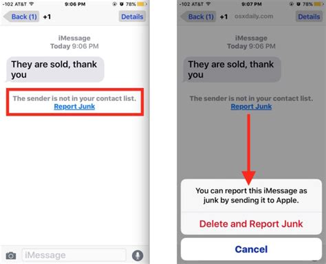 What Does Report Spam Means In by How To Report Imessage Spam As Junk Delete The Message