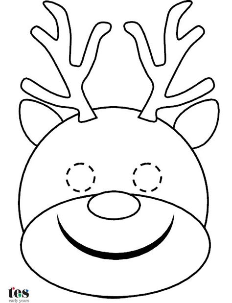 printable elf mask simple masks for christmas roleplay and storytelling