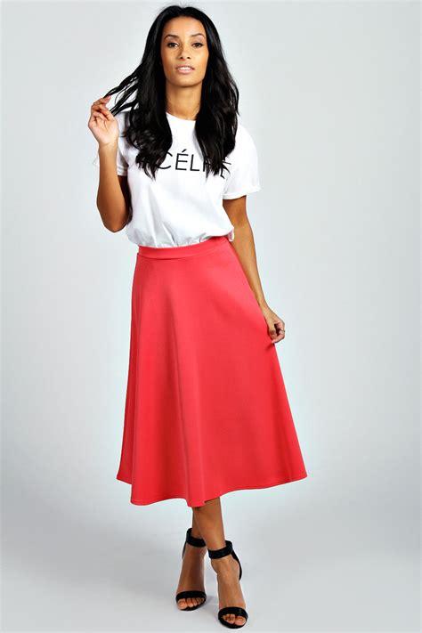 boohoo womens arianna plain circle midi skirt