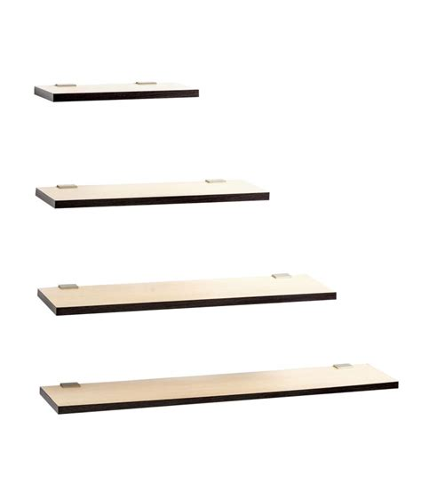 4 Wall Shelf by Bluewud Beige Wooden Wall Shelf Set Of 4 Buy Bluewud