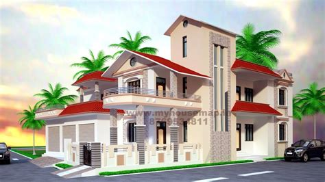 My Home Design Exterior Front Elevation Design House Map Building Design