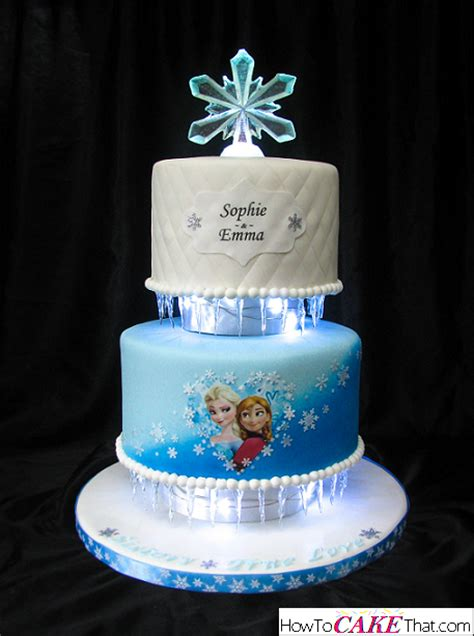 Birthday Cake Decoration Ideas At Home frozen anna and elsa cake how to cake that