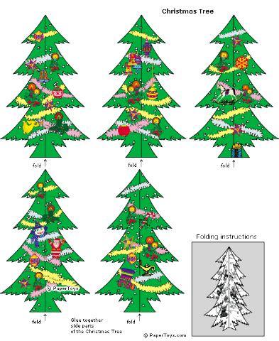 recortables de navidad 193 rbol de navidad en 3d dibujos