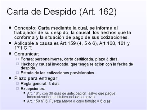 ejemplo carta de despido laboral terminaci 243 n de contrato de trabajo monografias com