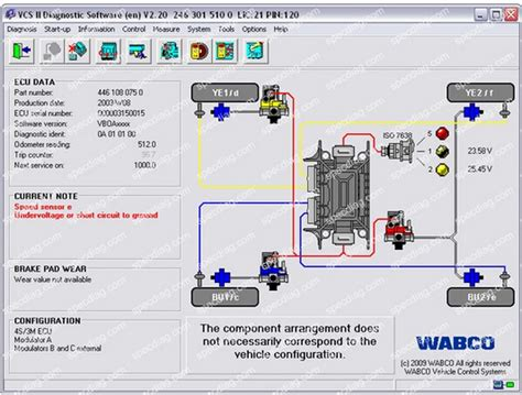 wabco abs wiring diagram wheel speed sensors diagram